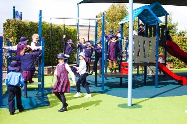 St Andrews Catholic Primary School Malabar - students in active playground